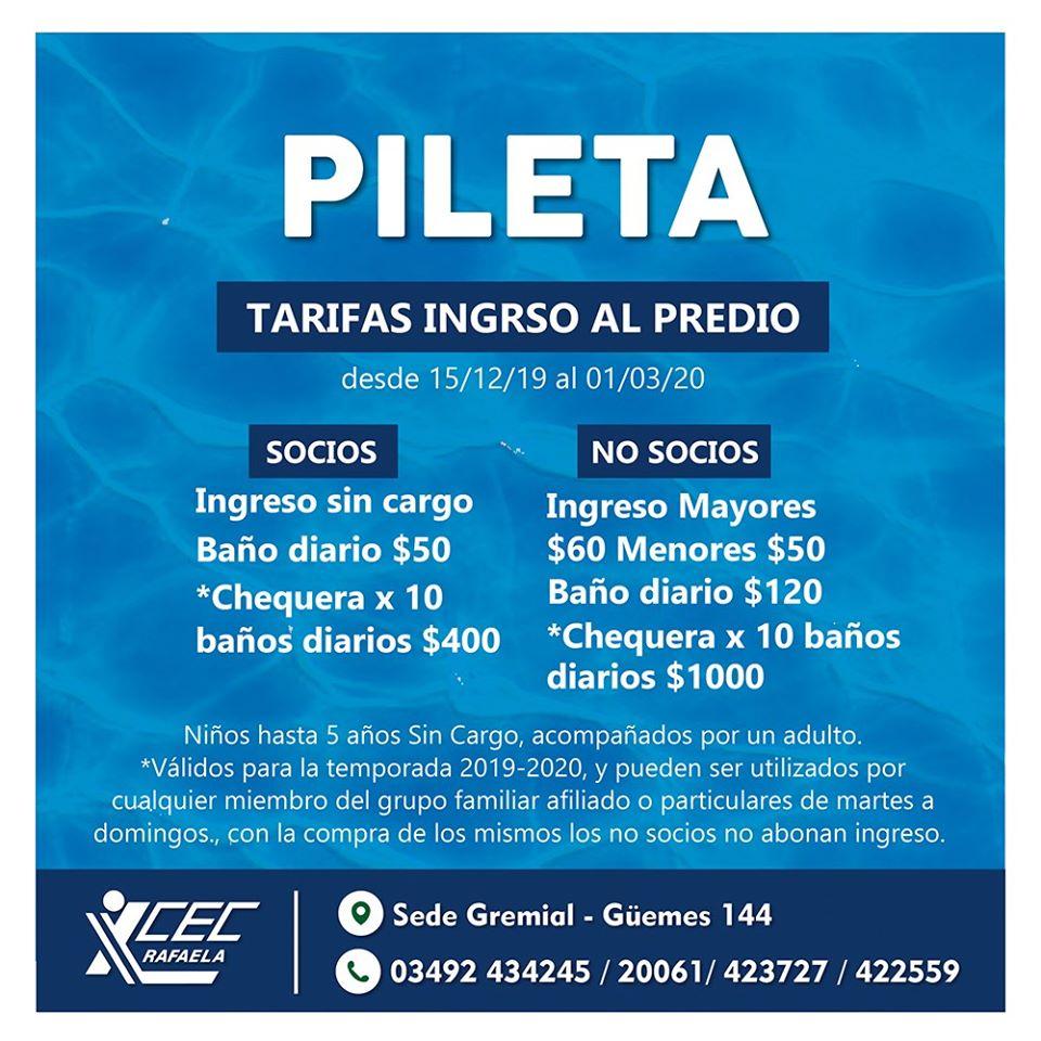 TEMPORADA DE PILETA