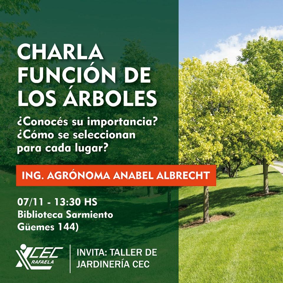 CHARLA: LA FUNCIÓN DE LOS ÁRBOLES