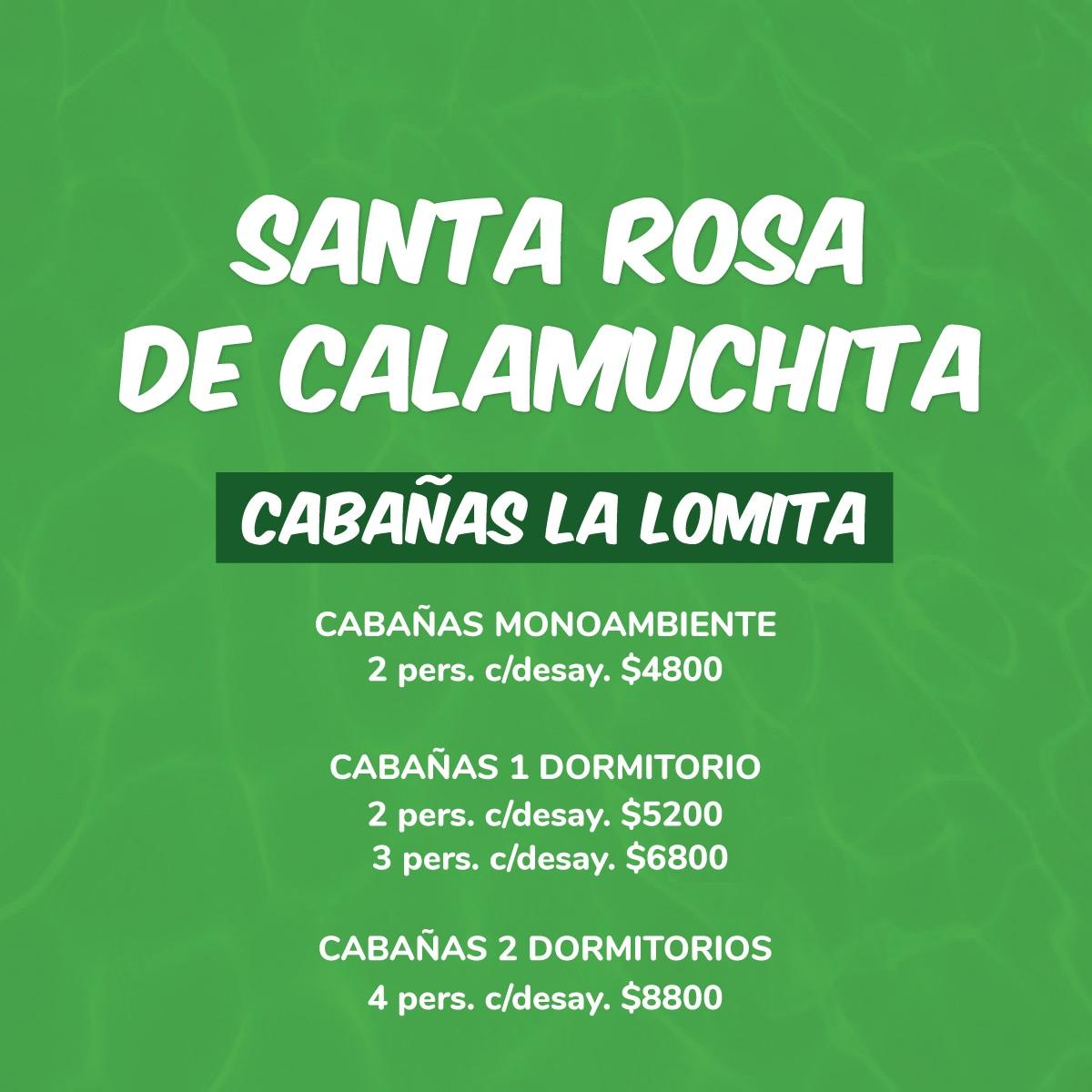 Santa Rosa CALAMUCHITA