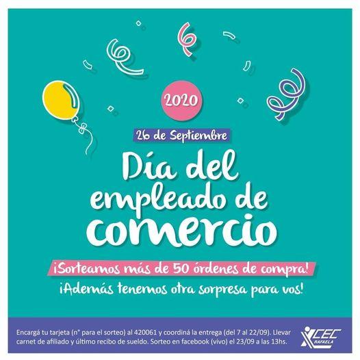 DÍA DEL EMPLEADO DE COMERCIO FESTEJOS 2020
