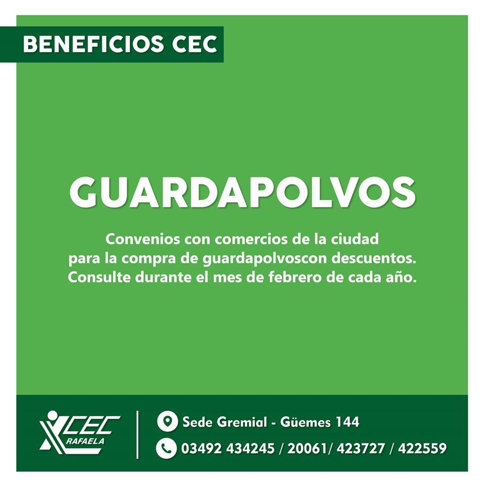 BENEFICIOS  CEC GUARDAPOLVOS