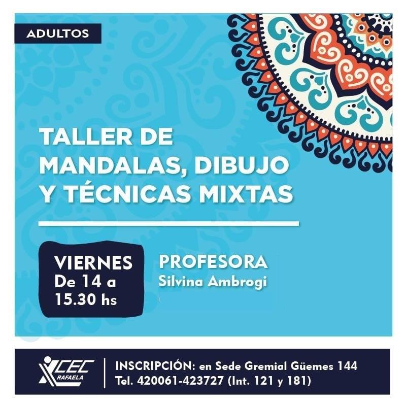 TALLER DE MANDALAS DIBUJOS Y TEC. MIXTAS