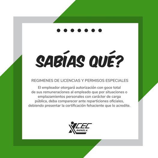 REGIMENES DE LICENCIAS Y PERMISOS ESPECIALES