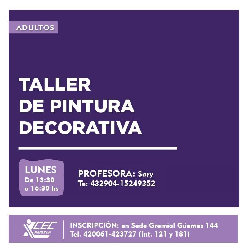 #TalleresCEC Taller de Pintura Decorativa