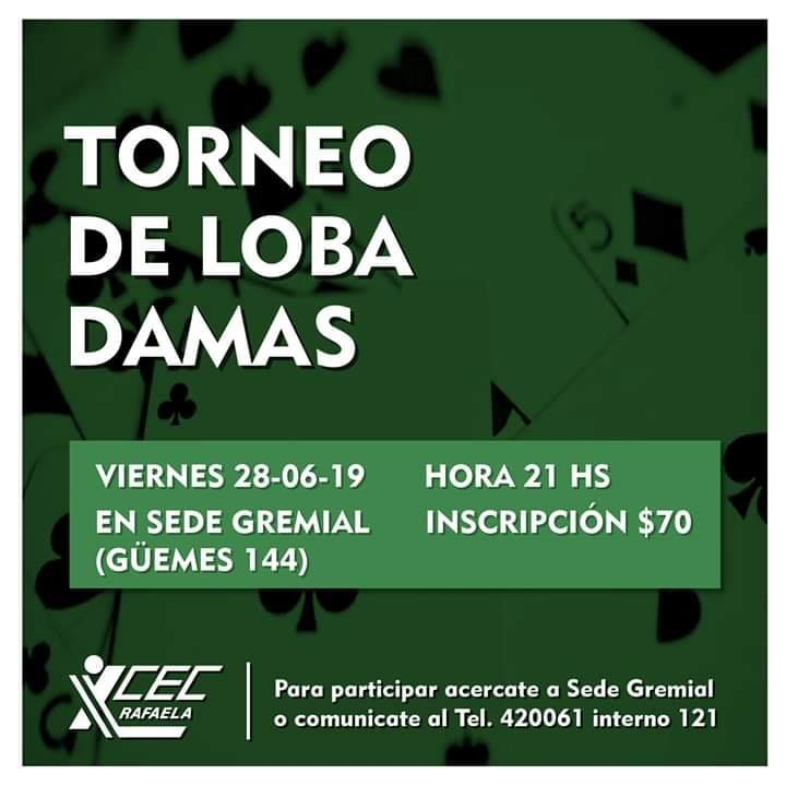 TORNEO DE LOBA DAMAS