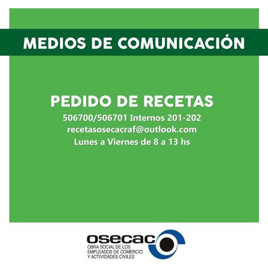 PEDIDO DE RECETAS
