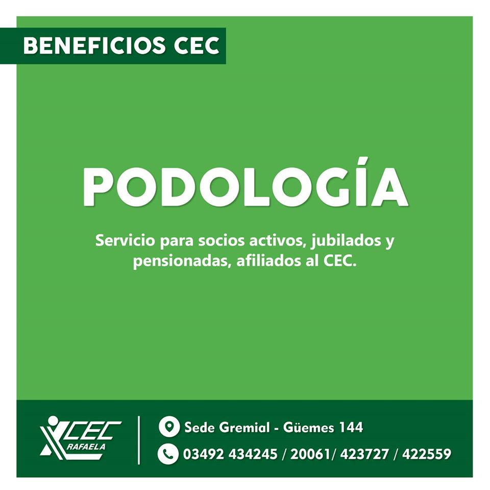 #BENEFICIOS CEC PODOLOGÍA