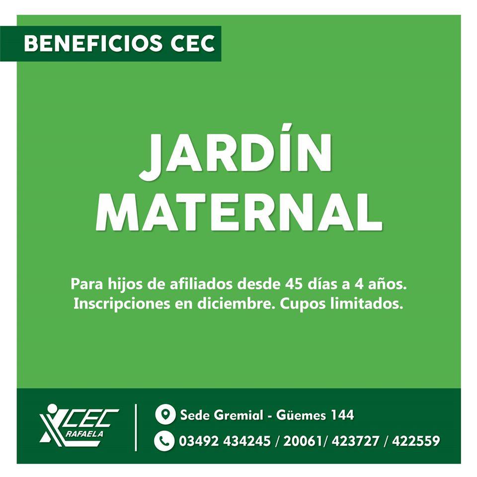INSCRIPCIONES JARDÍN MATERNAL