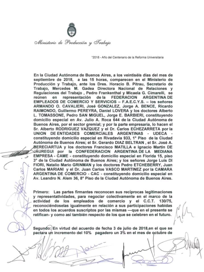 Acuerdo firmado