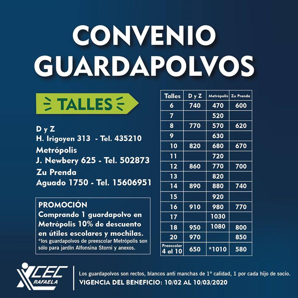 #BeneficiosCEC CONVENIO GUARDAPOLVOS
